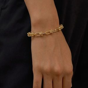 Gold Plated Chunky Trendy Bracelet